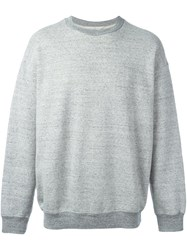Golden Goose Deluxe Brand Embroidered Back Sweatshirt Grey