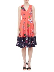 Ted Baker Esselle Tropical Oasis Dress Mid Red
