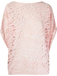 Martha Medeiros 'Marescot' Lace Blouse Pink And Purple