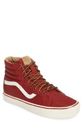Vans Men's Sk 8 Hi Reissue Lite Sneaker Red Classic White