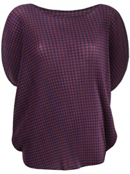 Issey Miyake Pleats Please By Checked Pleated T Shirt Black