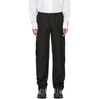 D.Gnak By Kang.D Black Scotch Piping Trousers