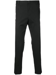 Dolce And Gabbana Bug Embroidered Tailored Trousers Black