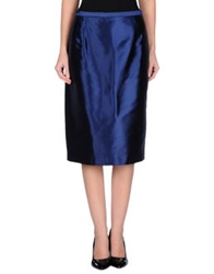 Gai Mattiolo Couture 3 4 Length Skirts Dark Blue