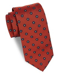 Brooks Brothers Classic Floral Neat Tie Orange