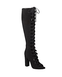 Kendall Kylie Emma Lace Up Gladiator Boots Black