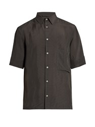 Christophe Lemaire Short Sleeved Gingham Shirt Black