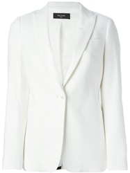 Paul Smith Black Label Peaked Lapel Blazer Nude And Neutrals