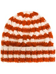 Warm Me 'Duma Stripe' Beanie Yellow Orange