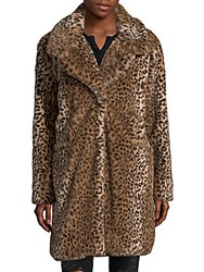 Candc California Faux Fur Cheetah Coat Cheetah Print