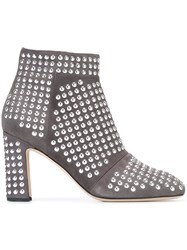 Christopher Kane Studded Ankle Boots Grey