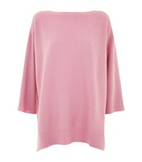 Harrods Cashmere Batwing Sweater Pink