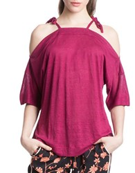 Plenty By Tracy Reese Shoulder Tie Top Red