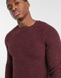 Esprit Chunky Knit Jumper In Bugundy Red