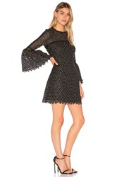 Cynthia Rowley Ditzy Embroidered Dress Black