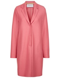 Harris Wharf Bubblegum Pink Wool Cocoon Coat