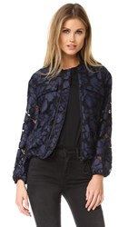 Kendall Kylie Lace Bomber Jacket True Navy