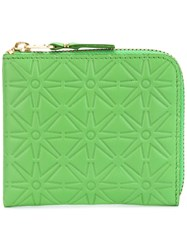 Comme Des Garcons Wallet Star Embossed Wallet Men Leather One Size Green