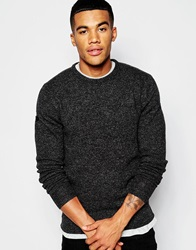 Superdry Lambswool Crew Neck Jumper Charcoal