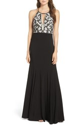 Aidan Mattox Women's Beaded Halter Gown