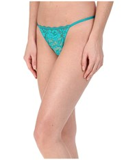 Betsey Johnson Starlet Lace Thong Emerald City Women's Underwear Green