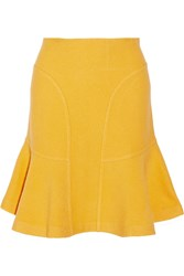 Issa Fluted Wool Skirt Yellow