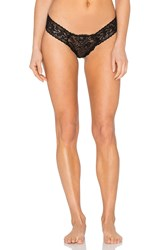 Hanky Panky Luscious Rose Low Rise Diamond Thong Black