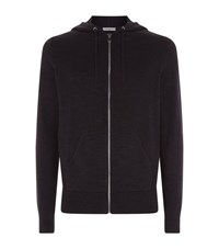 Sandro Sharp Knitted Hoodie Male Black