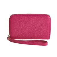 Graphic Image Wristlet Phone Wallet Pink Plain