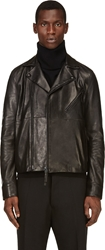 Acne Studios Black Leather Oscar Biker Jacket