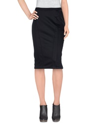 Guess Knee Length Skirts Black