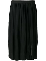 Marni Micro Pleated Midi Skirt Blue