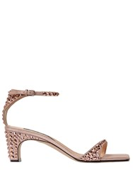 Sergio Rossi 60Mm Studded Metallic Leather Sandals