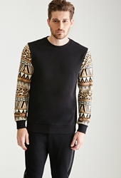 Forever 21 Tribal Print Sleeved Sweatshirt
