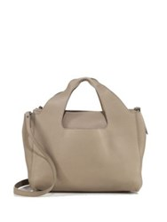 The Row Two For One 12 Leather Shoulder Bag And Pouch Stone