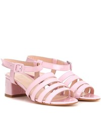 Maryam Nassir Zadeh Palma Patent Leather Sandals Pink