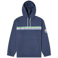 Nigel Cabourn Element X Cricket Pigment Hoody Blue