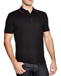 Hugo Delorian Tipped Slim Fit Polo Shirt Black
