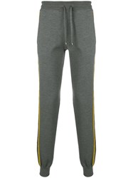 Missoni Side Stripe Drawstring Trousers Grey
