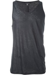 John Varvatos Semi Sheer Lightweight Sleeveless Tank Grey