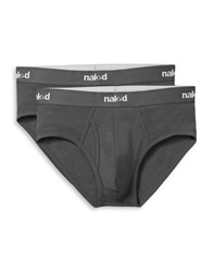 Naked Two Pack Logo Waist Briefs White