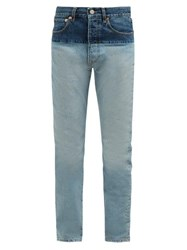 Vetements Panelled Straight Leg Jeans Denim