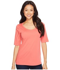 Pendleton Perfect Pima Tee Coral Pink Women's T Shirt