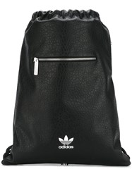 Adidas Originals Logo Print Textured Backpack Black