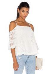 Bailey 44 Lace Tusk Cold Shoulder Top White