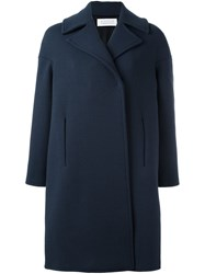 Gianluca Capannolo Collared Knee Length Coat Blue