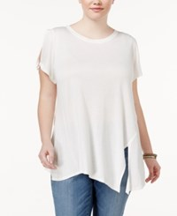 Rachel Roy Trendy Plus Size Asymmetrical T Shirt Natural