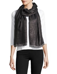 Vince Camuto Metallic Striped Wrap Scarf Black