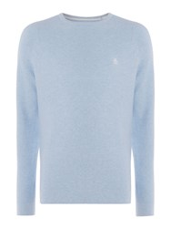 Original Penguin Men's Link Stitch Crew Neck Jumper Light Blue