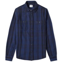 Edwin Labour Shirt Blue